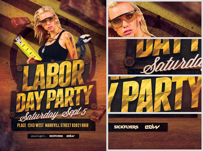 Labor Day Flyerlabor Day Party Flyer Template 2 This Energetic Labor Day  Flyer PlpvDVD0