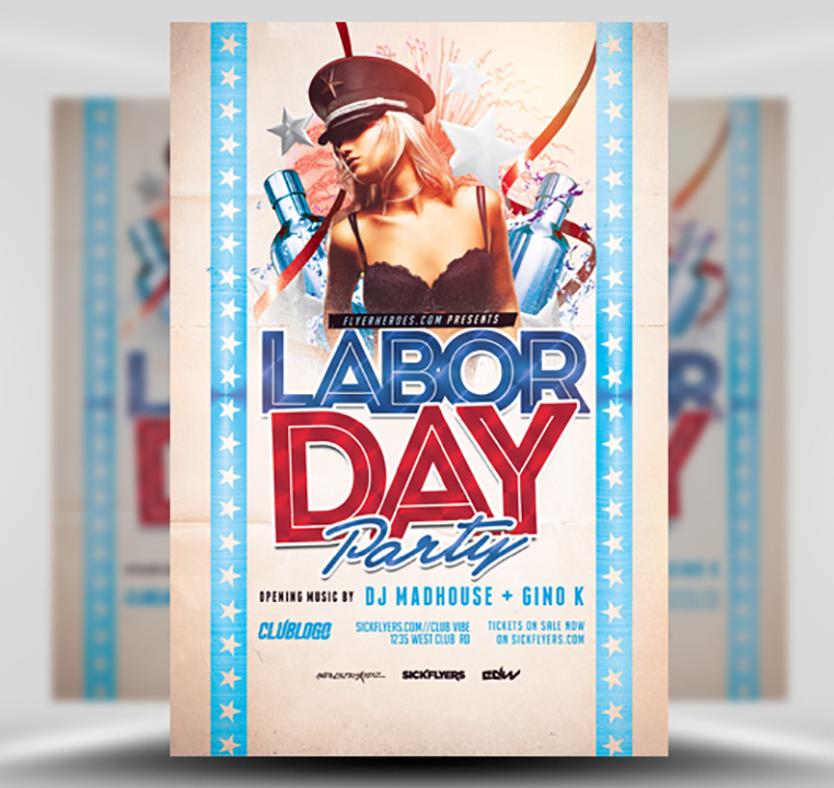 Labor Day Party Flyer Template 3 FlyerHeroes – Labour Day Flyer Template