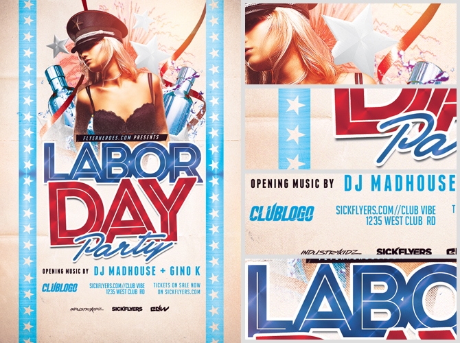 Beautiful Labour Day Flyer Template Images - Best Resume Examples