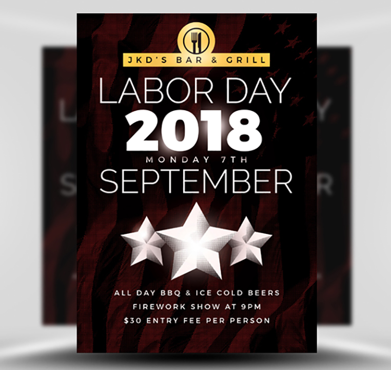 Simple Labor Day Flyer Template FlyerHeroes – Labour Day Flyer Template