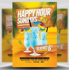 Summer Happy Hour Flyer Template 1