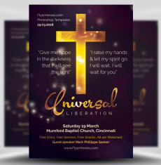 Universal Liberation Church Flyer Template