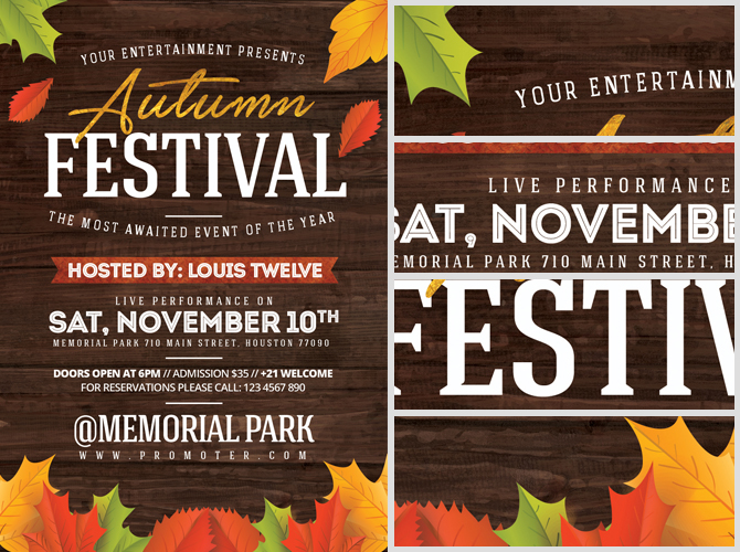 autumn festival flyer template flyerheroes. Black Bedroom Furniture Sets. Home Design Ideas