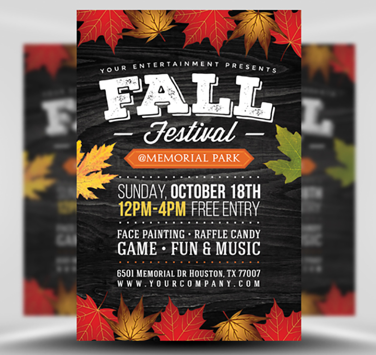 fall festival flyer template 2
