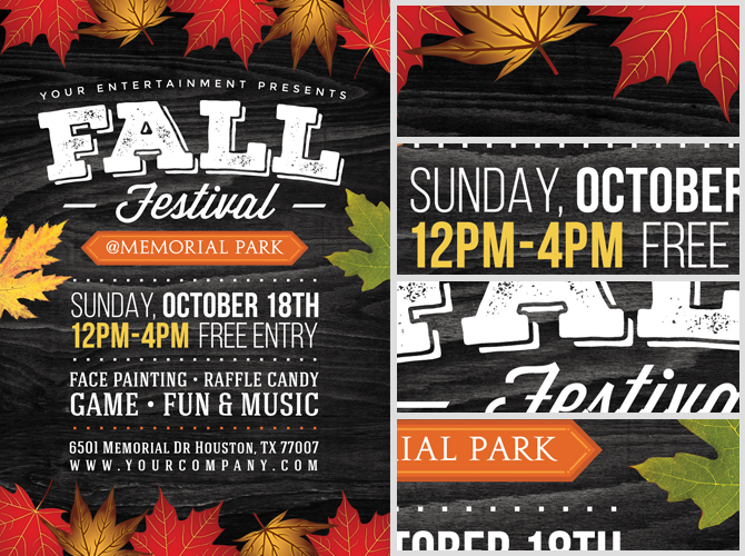 fall festival flyer template 2 flyerheroes. Black Bedroom Furniture Sets. Home Design Ideas