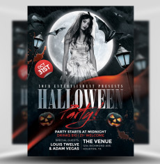 Halloween Flyer Templates for Photoshop