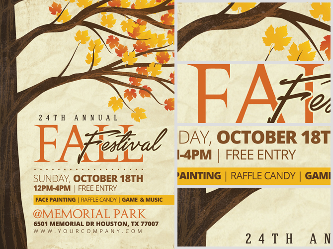 Rustic Fall Flyer Template - FlyerHeroes