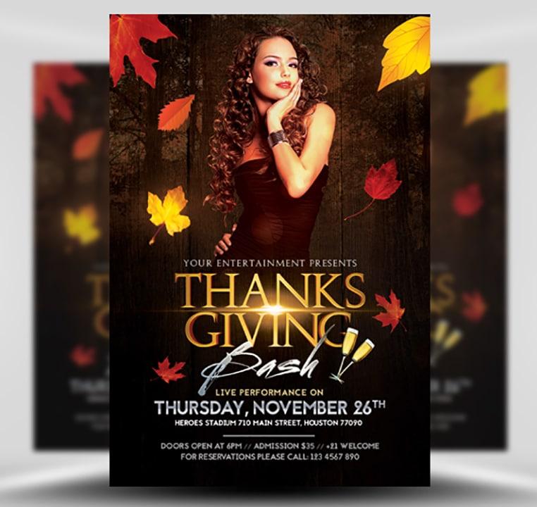Thanksgiving Club Flyer Template FlyerHeroes – Club Flyer