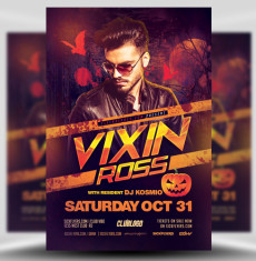 Club Flyers Templates | Halloween Flyer Templates For Photoshop