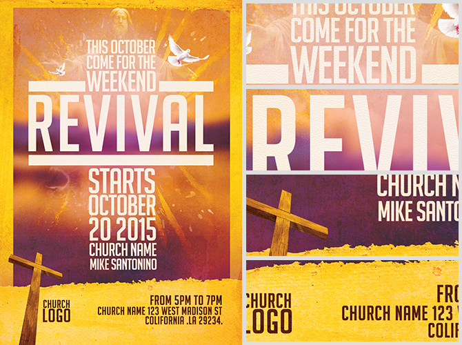 church revival flyer template flyerheroes With free church revival flyer template