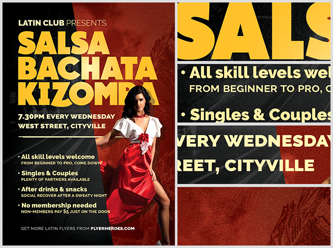 Latin Dance Night Flyer Template Flyerheroes