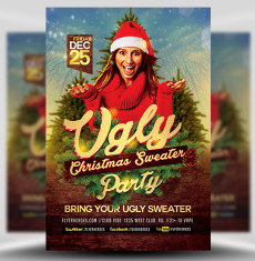 Ugly Sweater Flyer Template 1