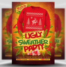 Ugly Sweater Party Flyer Template 2 Flyerheroes 1