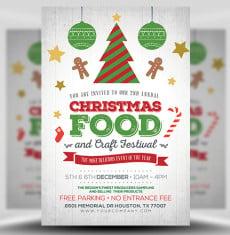 Christmas Food Festival Flyer Template 1