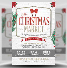 Christmas Market Flyer Template 1