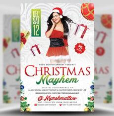 Christmas Mayhem Flyer Template 1