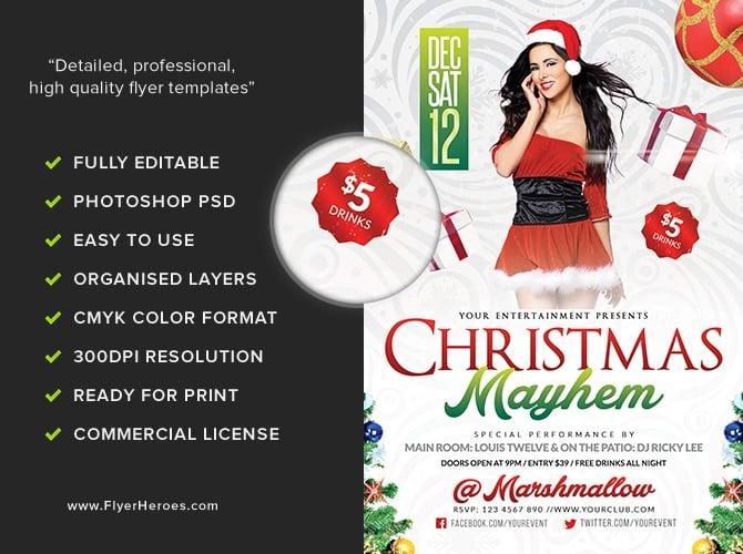 Christmas Mayhem Flyer Template FlyerHeroes – Mayhem Flyer Template