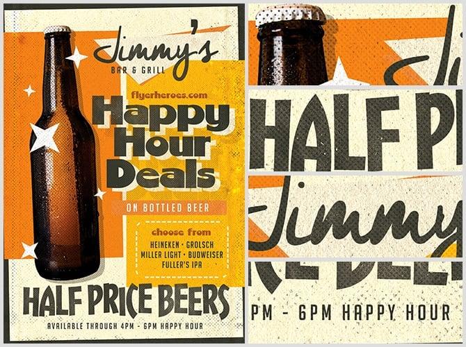 Vintage Beer Poster Template 5 Flyerheroes
