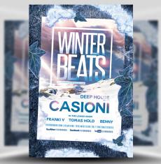 winter flyer template