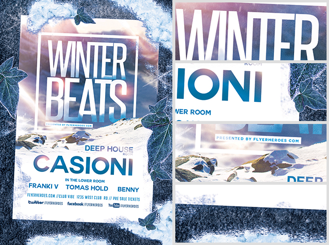 Winter Beats Flyer Template - Flyerheroes