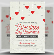 Rustic Valentine's Flyer Template FH 1