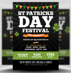 St Patrick's Day Festival Flyer Template FH 1