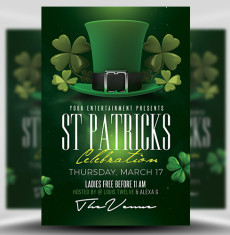 St Patrick's Day Flyer Template 3 FH 1