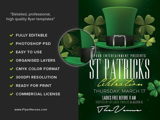 St Patrick S Day Flyer Template 3 Flyerheroes