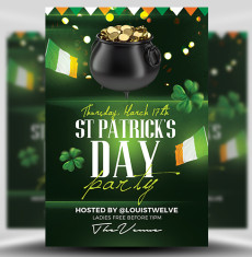 St Patrick's Day Flyer Template 4 FH 1