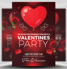 Valentine's Day Flyer Templates for Photoshop - FlyerHeroes