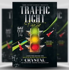 Valentine's Day Traffic Light Flyer Template 3 FH 1