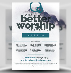 Better Worship Flyer Template FH 1