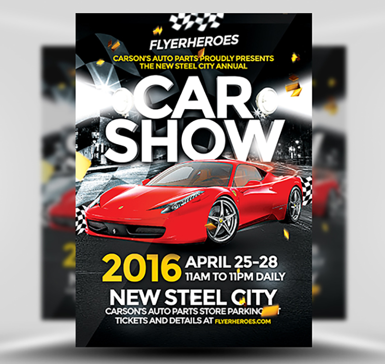 Car Show Flyer Template Flyerheroes