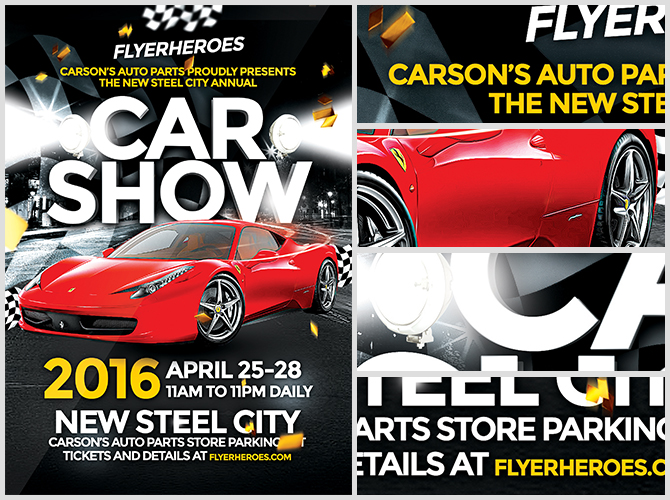 Car Show Flyer Template - FlyerHeroes