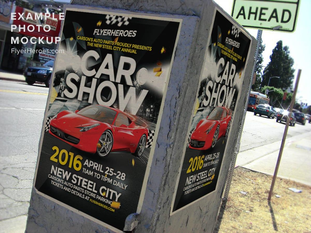 Car Show Flyer Template FlyerHeroes – Car Show Flyer Template
