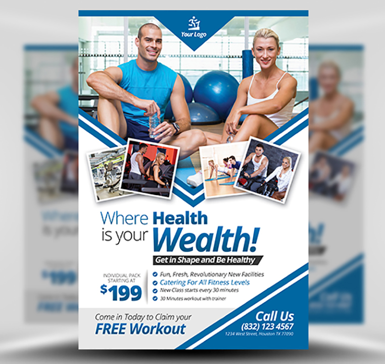 Fitness Flyer Template FlyerHeroes – Fitness Flyer
