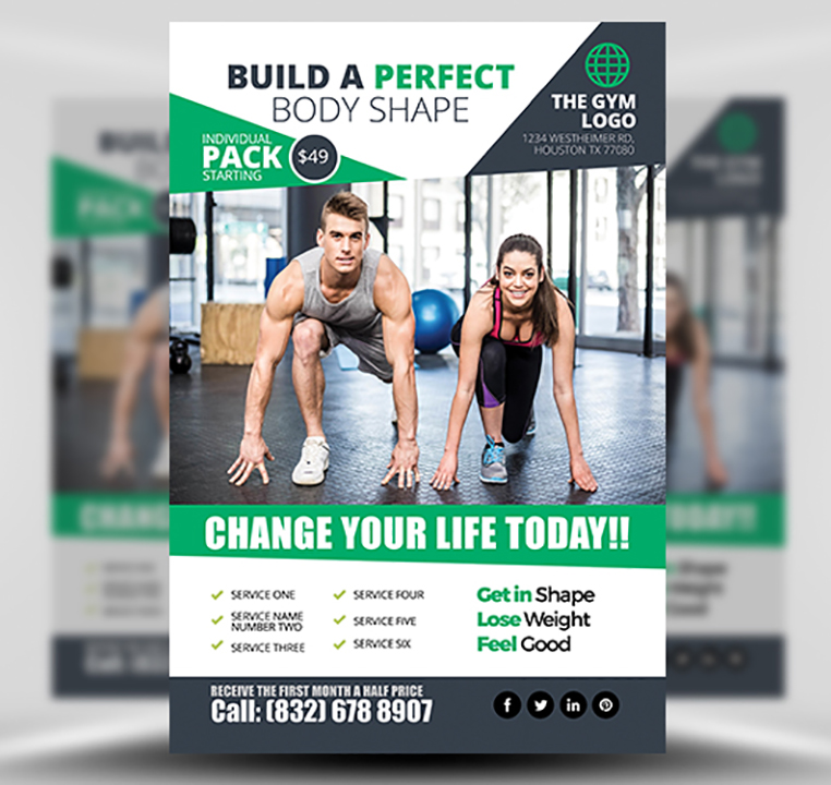 Free Fitness Gym Flyer Template Psd Files And Free Church: Gym Flyer Template 2