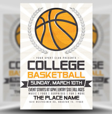 Illustrated Basketball Flyer Template FH 1