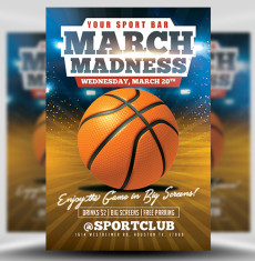 madness flyer template basketball flyer template sickflyers com