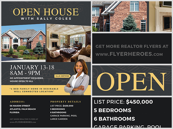 Free Open House Flyer Template from flyerheroes.com