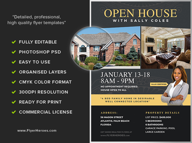 Open House Flyer Template 2 - FlyerHeroes