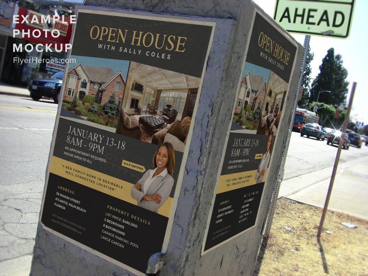Open House Flyer Template 2 FlyerHeroes – Open House Flyer Template