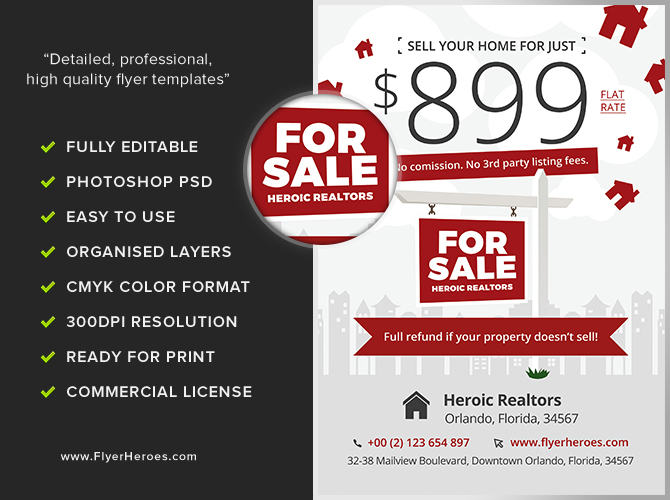 realtor promotion flyer template flyerheroes. Black Bedroom Furniture Sets. Home Design Ideas