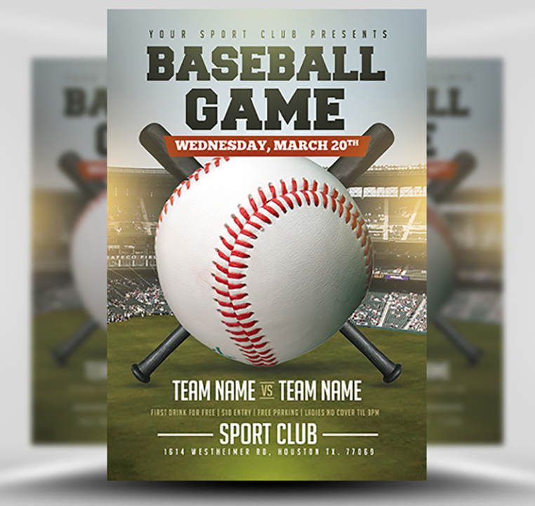 Baseball Flyer Template 2 FlyerHeroes – Baseball Flyer