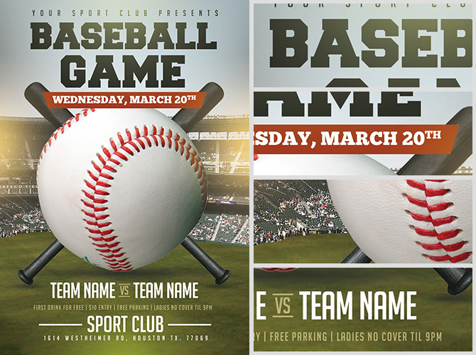 Baseball Flyer Template 2 FlyerHeroes – Baseball Flyer