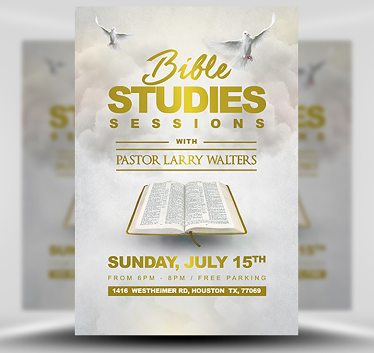 Bible Study Flyer Template 2 Flyerheroes