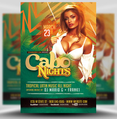 Cabo Nights Flyer Template FH 1