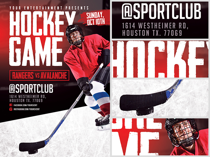 Hockey Game Flyer Template Flyerheroes
