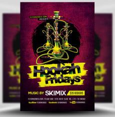 Hookah Fridays Flyer Template FH 1