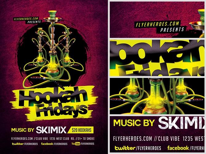 Hookah Fridays Flyer Template Flyerheroes